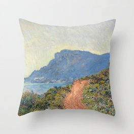 La Corniche near Monaco by Claude Monet, 1884 Throw Pillow