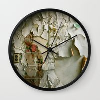 detroit Wall Clocks featuring Detroit Kitsch by Riot Jane