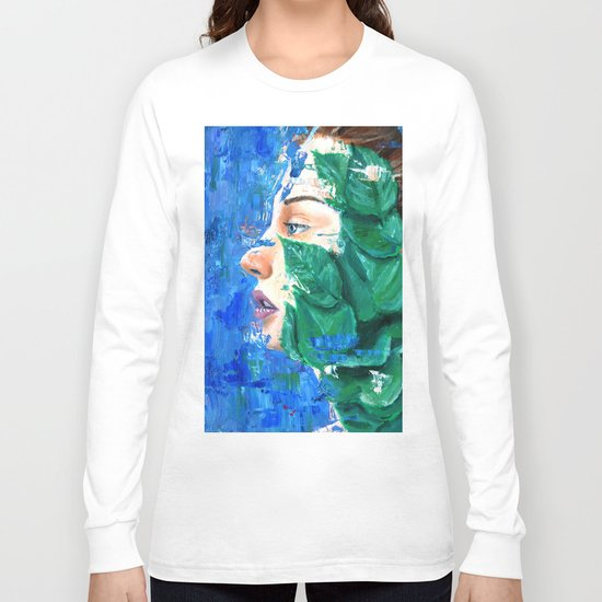 Leaves and face Long Sleeve T-shirt