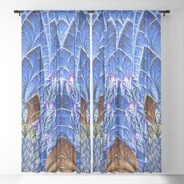 Watercolor Peacock Pattern Texture Sheer Curtain