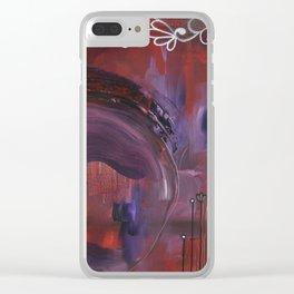 Black Velvet Clear iPhone Case