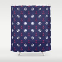 nautical Shower Curtains featuring Nautical by anertek