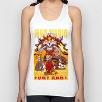 mario kart Tank Tops featuring Mad Mario: Fury Kart by RynoArts