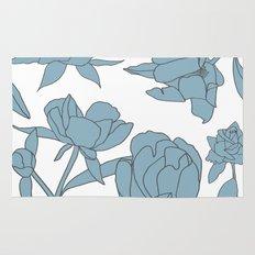 Roses in Blue Rug