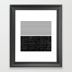 platno (black stripes) Framed Art Print
