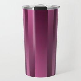 Burgundy , striped Travel Mug