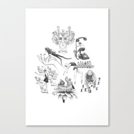Ink Thoughts Five Canvas Print