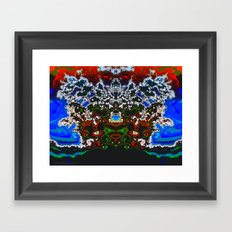 An Elaborate Headdress Framed Art Print
