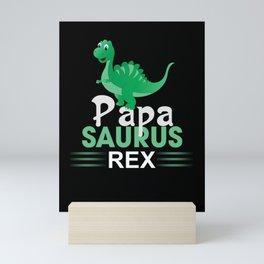 Saurus Rex Papa Mini Art Print
