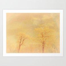 Love ~ Winter landscape Art Print
