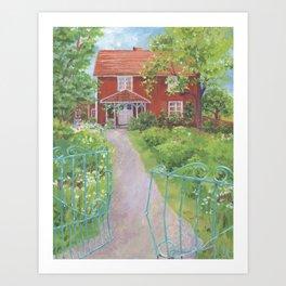 Garden Gate Home, by Sandy Thomson Art Print