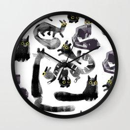 Cats on Cats Wall Clock