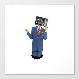 Retro Tv Man Canvas Print
