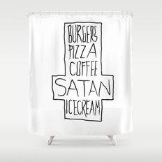 pizza & moar Shower Curtain
