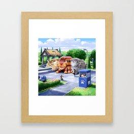 Cat station Framed Art Print