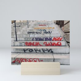 Croix Rousse stairs Mini Art Print