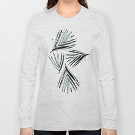Palm Leaves Pattern #2 Long Sleeve T-shirt