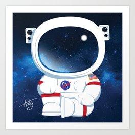 Astro Buddha  Art Print