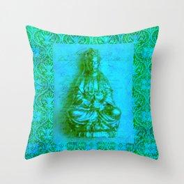 Jade Kwan Yin Throw Pillow
