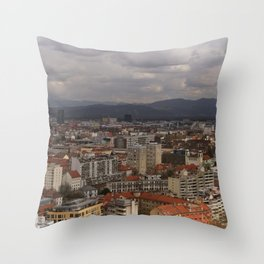 Over The Rooftops of Ljubljana Throw Pillow
