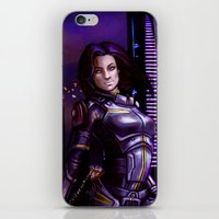 nan lawson iPhone & iPod Skins featuring Mass Effect - Miranda Lawson by Amber Hague