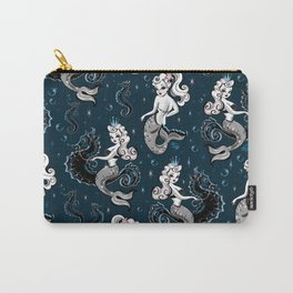 Pearla the Mermaid Riding on a Seahorse Carry-All Pouch