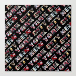 New York City (typography diagonal) Canvas Print