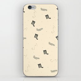 Scorpio Pattern - Beige iPhone Skin