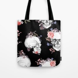 Day Of The Dead Floral Skulls Tote Bag