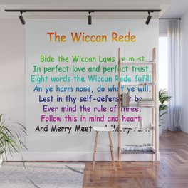The Wiccan Rede Wall Mural