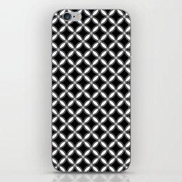 Small Black and White Interlocking Circles iPhone Skin