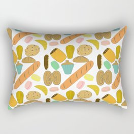 Patisseries de France French Pastries and Breads Rectangular Pillow