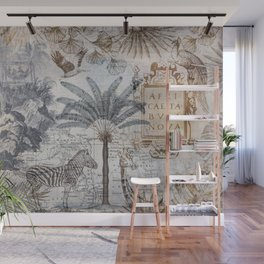 Explore Africa Collage Wall Mural
