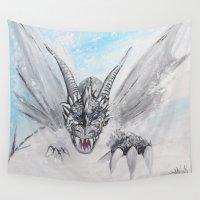 fierce Wall Tapestries featuring The Fierce Blizzard by SwinkArt