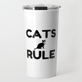 Cats Rule Paw Pet Fan Travel Mug
