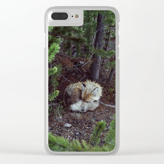 Sleeping Fox Clear iPhone Case