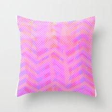 Neon Chevron Throw Pillow