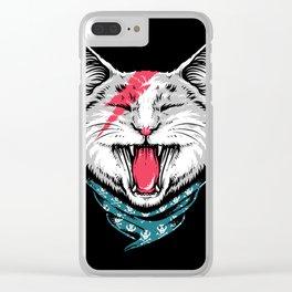 Cat Rock Clear iPhone Case