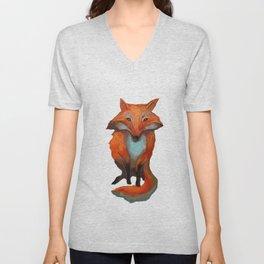 moon fox Unisex V-Neck