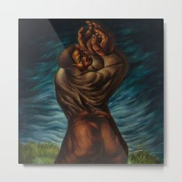 African-American Masterpiece 'Spiritual'  - Prayer for the Departed by Charles White Metal Print