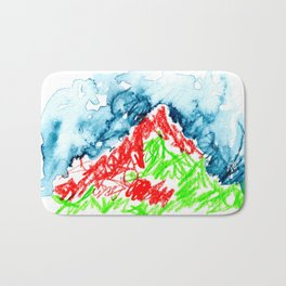 up to the hill Bath Mat