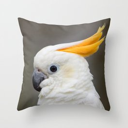 Sulfer crested cockatoo Throw Pillow