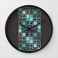 geo Wall Clocks featuring Geo by MICALI/ M J