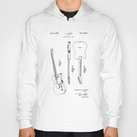 guitar Hoodies featuring Guitar by Patent Drawing