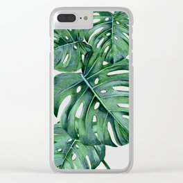 Monstera Clear iPhone Case
