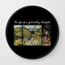 The Garden Of Earthly Delights Hieronymus Bosch Wall Clock