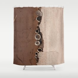 rotated rustic roof Shower Curtain