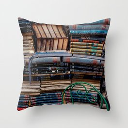 Book nook, Venice Italy Throw Pillow