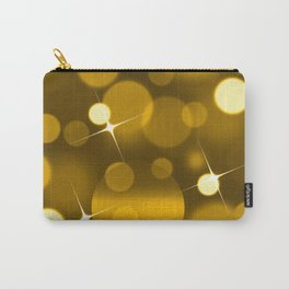 Elegant gold yellow abstract gradient bokeh Carry-All Pouch