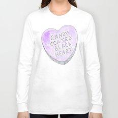 Candy coated Black heart Long Sleeve T-shirt